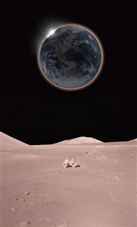 APOD: 2007 March 2 - Solar Eclipse from the Moon