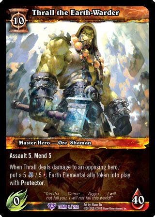Thrall the Earth-Warder - Out of print TCGs » World of Warcraft TCG » WOW Singles